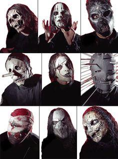 6 de los 9 miembros de slipknot