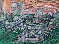Закат в Сан-Франциско.