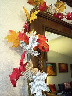 book page leaf garland