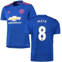 Juan Mata Manchester United FC adidas 2016 Replica Away Jersey - Royal - $104.99