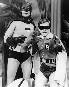 "Actor: Adam West plays ""Batman"", and Actor: Burt Ward plays ""Robin"". Real Batman, Batman Tv Show, Batman Tv Series, Batman And Superman, Batman Robin, Dc Comic Books, Comic Book Characters, Nightwing, Batgirl"