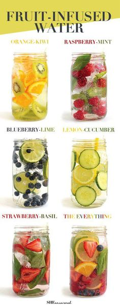 in your daily water quota with this Fruit-Infused Water - 6 ways! From berri Get in your daily water quota with this Fruit-Infused Water - 6 ways! From berri. -Get in your daily water quota with this Fruit-Infused Water - 6 ways! From berri. Smoothie Drinks, Detox Drinks, Healthy Drinks, Detox Juices, Smoothie Cleanse, Healthy Juices, Fruit Drinks, Healthy Foods, Cleansing Smoothies