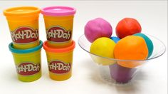 Play-Doh Ice Cream Balls With Surprise Toys