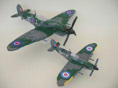Lego Spitfire Mk IX (little and large) | Flickr - Photo Sharing!