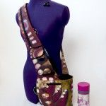 Cross-body Hipster with water bottle pocket and big phone pocket sewing pattern made by Tutorial Girl