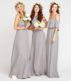 Soft Charcoal Bridesmaid Dresses   Show Me Your Mumu #Bridesmaiddressideas