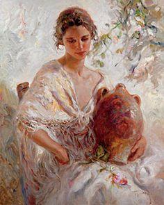 Presencia  2005 43x51 by  Royo - Oil on Canvas