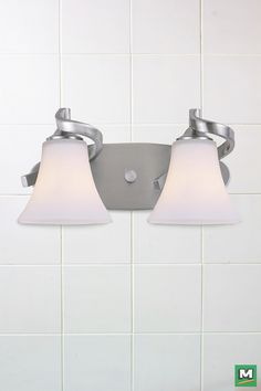 Patriot Lighting® Dee Vanity Light with Brushed Nickel Finish and Flat Opal Glass