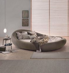 When it comes to bedroom design, a lot of people generally choose the rectangular and square beds. The truth is modern round beds can transform… Sofa Design, Home Decor Furniture, Furniture Design, Circle Bed, Living Room Decor, Bedroom Decor, Bedroom Bed, Bedroom Ideas, Round Beds