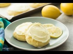 Frosted Lemon Sour Cream Sugar Cookies Recipe