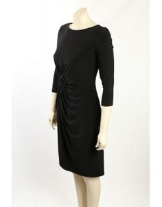 Great versatile black dress from Adrinna Papell. This dress could easily take you from day to night suiting both the office and evening functions. The dress is fully lined, has sleeves and has gathering at the waist. Night Suit, Adrianna Papell, Designer Dresses, Tommy Hilfiger, Calvin Klein, Ralph Lauren, Sleeves, Clothes, Collection