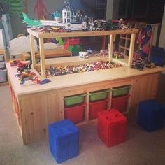 most awesome lego table. Like the finished/in process space above most awesome lego table. Like the finished/in process space above