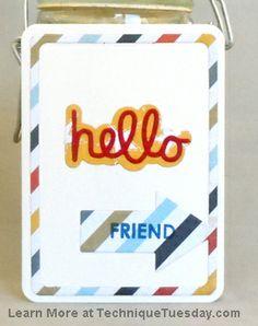 Hello Friend Arrow Card