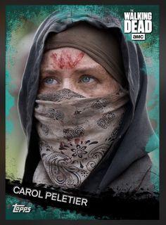 Carol Peletier (Teal Parallel) Insert Card The Walking Dead 2016 Topps