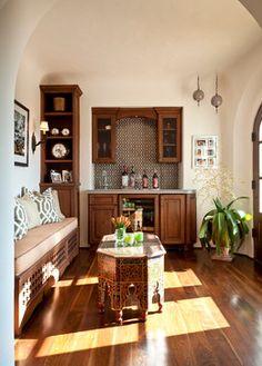 A Montecito Andalusian - mediterranean - wine cellar - santa barbara - Cabana Home