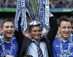 Lampard, pictured with Jose Mourinho and John Terry, won every major honour at Chelsea