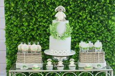 Robyn and Rocco's Sweet Little Lamb and Rabbit Themed Party - Cake