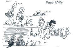 Fermin & Piker van tomando forma en este primer boceto de lo que puede ser el filme y el nuevo comic de Los Garriris. Descubre las ilustraciones a gran formato sobre metacrilato. #Garriris #sketches #apuntes #print