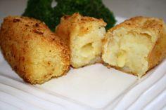 Potato Croquettes with Cheese - #primalsnack #primalrecipe #croquettes