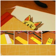 Animal paper bookmark creative sleepy cat