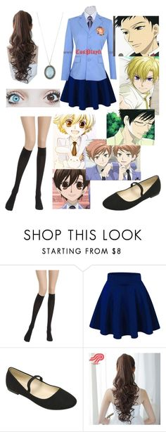 """""""ouran high school host club (oc) outfit"""" by nightmare-reaper ❤ liked on Polyvore featuring Wolford, Pin Show and Armenta"""