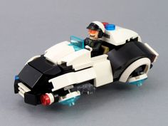 Futuristic City - S/1 Police Patrol Hovercar   by BobDeQuatre