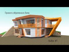 Проект дома.Проектируем современный дом в Archicad. Видео#1 - YouTube 3d Photoshop, Projects To Try, Mansions, House Styles, Youtube, Home Decor, Decoration Home, Manor Houses, Room Decor