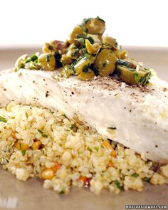This delicious recipe for steamed halibut with lemon olive quinoa salad is a wonderfully simple supper to prepare.