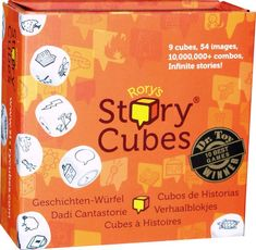 Story Cubes Max - Juegos en la Mesa - The Creativity Hub Story Cubes, Cube Games, Best Games, Cool Gifts, Board Games, Drama, Creative, Gift Ideas, Signs