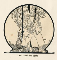 Lieder des Ghetto (Songs of the Ghetto), 1903, Ephraim Moses Lilien (1874-1925)