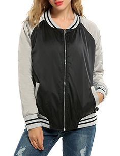 Meaneor Women's Casual Zip-Up Solid Biker Jacket Short Slim Fit Bomber Jacket Black M. Material: 100% Polyester. Front zip closure, with 2 side-entry welt pockets, quilted lining. Baseball Jacket, Fashionable collar. As different computers display colors differently, the color of the actual item may vary slightly from the above images, thanks for your understanding. Size is the manual measurement , because of the different measurement methods for each person , there may be errors 1-2cm....