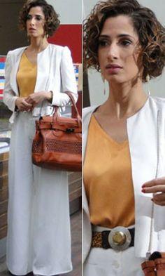 Look pra trabalhar - Conjunto: calça e terninho branco