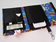 Nerd Herder gadget wallet in Zoom Zip Pow for iPhone 5, Android, iPod, camera, earbuds, SD cards, USB, extra batteries, guitar picks,