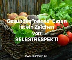 """Gesundes """"reines"""" Essen ist ein Zeichen von Selbstrespekt! #lowcarb #lowcarbdeutschland #lowcarbrezepte #lowcarbpaleo #lowcarbhighfat #lowcarbgermany #lchf #lchfdeutschland #lchfgermany #keto #ketogen #ketose #gesundessen #gesundabnehmen #gesundbacken #gesundesessen #gesundeernährung #gesunderezepte #gesundkochen #gesundleben #glutenfrei #glutenfreibacken #glutenfreikochen #glutenfreiessen #glutenfreierezepte #sojafrei #kohlenhydratarm #kohlenhydratfrei #keinekohlenhydrate #zuckerfrei by…"""