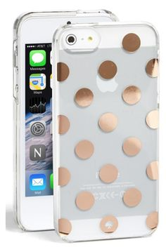 Kate Spade gold polka dot phone case  http://rstyle.me/n/mtn2wpdpe