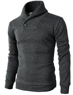 Mens Knited Slim Fit Pullover Sweater Shawl Collar With One Button Point Mens Turtleneck, Men Sweater, Mens Shawl Collar Sweater, Marriage Dress For Men, Adventure Time Hoodie, Best Pants For Men, Moda Men, Look Cool, Cardigans For Women