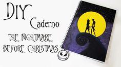 DIY: Caderno O ESTRANHO MUNDO DE JACK (Tim Burton's The Nightmare Before...