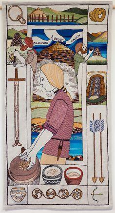 Great Tapestry of Scotland complete Panel Textile Fiber Art, Fibre Art, Art Quilting, Textiles, Vintage Embroidery, Art Club, Wool Felt, Spinning, Scotland