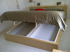 MALM Bedframe with ALSARP storage foundation. A happy marriage!