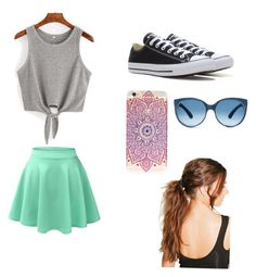Untitled #1 by olivia-186 on Polyvore featuring polyvore, fashion, style, LE3NO, Converse, Boohoo and clothing
