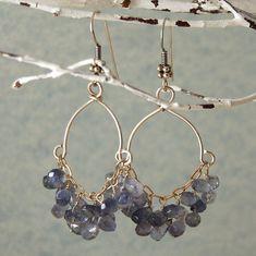 """Blue Apatite Earrings Chandelier Earrings Sterling Silver """"Lana"""". $48.00, via Etsy."""