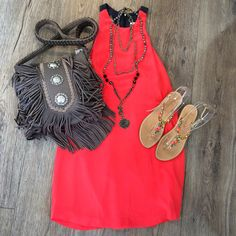 Bright up your Sunday with this cute outfit!Tap the pic for details and shop it in store or on line! #azzurracapri #azzurracapriboutique #shopping #Fashion #fashionista #sd #summer #sunday #style #mystyle #fringe #dress #Sandals #SanDiego #sun #necklaces #layering #styling #glamour #bright #luxury