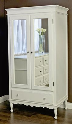 bedroom armoire with mirror