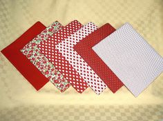 Quilting fabric bundle Patchwork cotton fabric by MargoCreative #fabric #cotton #red-white #valentine #quilting #quilt #bundle #set