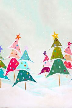 photography backdrops | colorful | Christmas | tree | Snow | background