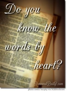 Do You Know the Words By Heart?
