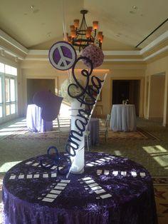Purple Bat Mitzvah Event Decor   Party Perfect Boca Raton, FL 1(561)994-8833