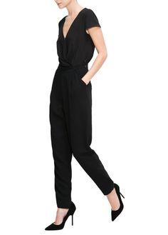 Combinaison pantalon Noir by MANGO