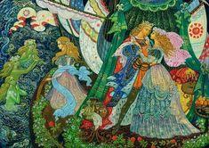 """The Little Mermaid"" by Vera Smirnova, Palekh"