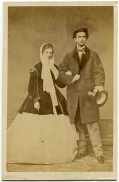 Ludwig II of Bavaria and his fiancee Sophie of Bavaria. Ludwig had no real interest in marrying Sophie and the engagement would be broken off.